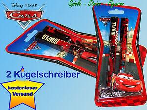 2-Stueck-Disney-Cars-Kugelschreiber-Lightning-McQueen-u-Hook-Disney-Cars-2