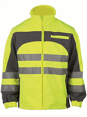 Mens Softshell Hi Viz Visibility Pro EN471 Weather Proof Yellow Jacket. RRP £45!