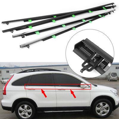 New SUV Chrome Outside Window Weatherstrip Trim Seal Belt For Honda CR-V 07-11