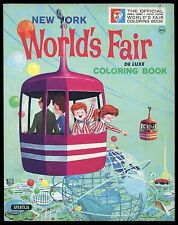 OFFICIAL NEW YORK WORLD'S FAIR - NYWF - COLORING BOOK - 1964-1965 - UNUSED