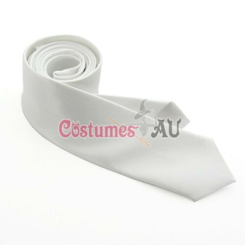 Adults 20s Mens Gangster Black White Tie 1920s Gatsby Party Costume Accessory