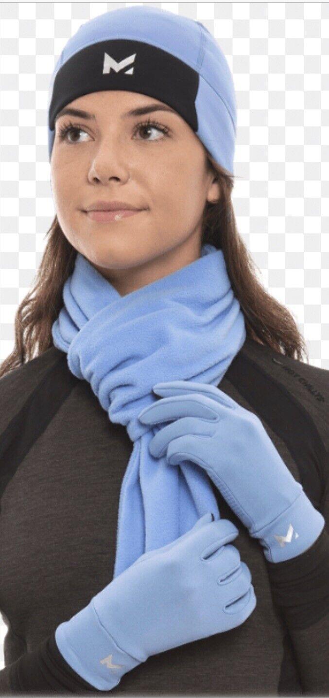 MISSION VaporActive Women's 3 Piece Heating Beanie, Scarf and Glove Set Blue
