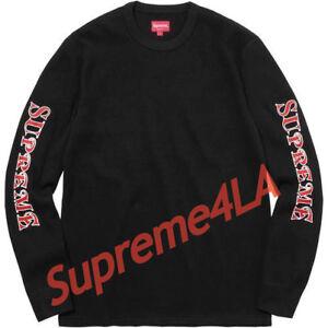 Supreme 17F//W Gonz Work Shirt Black Size L XL 1000/% Authentic
