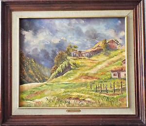 Details about Honey oil painting Beautiful Original and Historic Mexican  landscape  BUY IT NOW