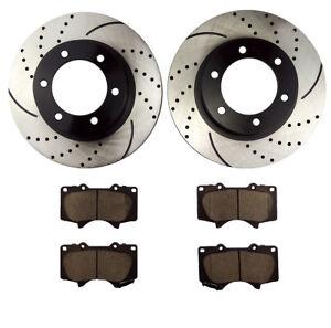 For 2005 2006 2007 2008-2011 TOYOTA TACOMA Front Brake Rotors Ceramic Pads