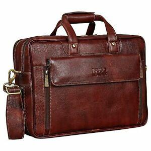 Brand Leather 15.6 inch Shoulder Sling Messenger Bag For Unisex