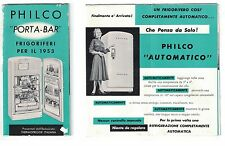 Pubblicità Philco frigoriferi 1953 Thermofrigor Italiana advertising reklame