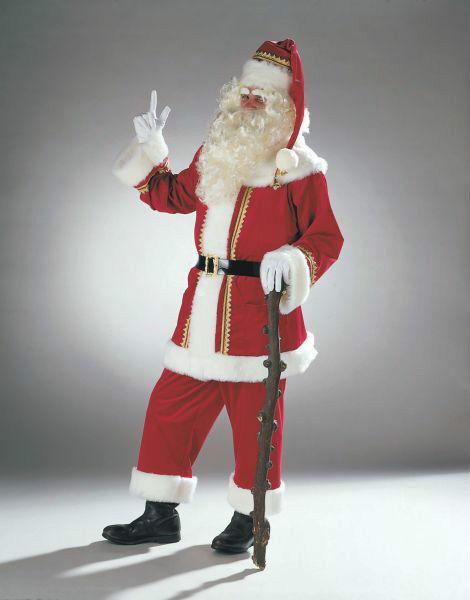 Papá Noel terciopelo de alta calidad traje navidad Santa Nikolaus disfraz Xmas