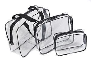 3-PC-Claro-Transparente-Bolsa-De-Aseo-Impermeable-organizador-de-cosmeticos-Beach-Travel