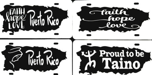 """Puerto Rico Plastic License Plate  BUY 2 GET 1 FREE PLUS Free 4/""""w  Decal"""