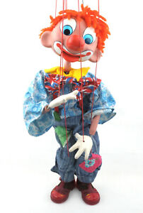 Vintage-Pelham-Puppet-24-034-Marionette-The-Clown-1970s-BOXED