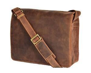 Mens Messenger Leather Bag Waxed Tan Vintage Laptop Office Uni Casual Record Bag Kann Wiederholt Umgeformt Werden.