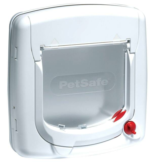 PetSafe Staywell Deluxe Manual 4 Way Locking Cat Flap White Easy Install HQ New