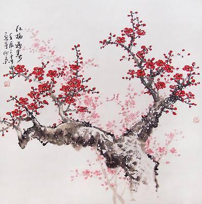 "Chinese Cherry Blossom Art ~  XL CANVAS PRINT poster  24""X 36"""