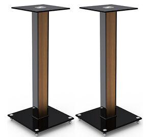 Image Is Loading Aluminum Glass And Wood Bookshelf Speaker Stand 23