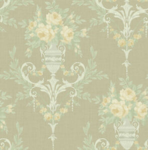 Neoclassical-Floral-Wallpaper-Green-Blush-Silver-in-the-Victorian-Arts-and-Craft