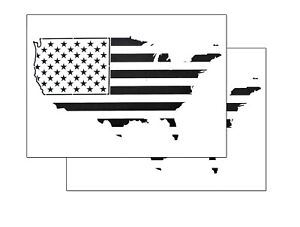 Details About 2 Pack Spray Airbrush Painting Stencils American Map Us Flag Large 10x14