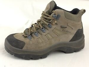 55753294aab Details about L L Bean Women 7.5 M Hiking Trail Work Boots Gore-tex Brown  Suede Leather Vibram