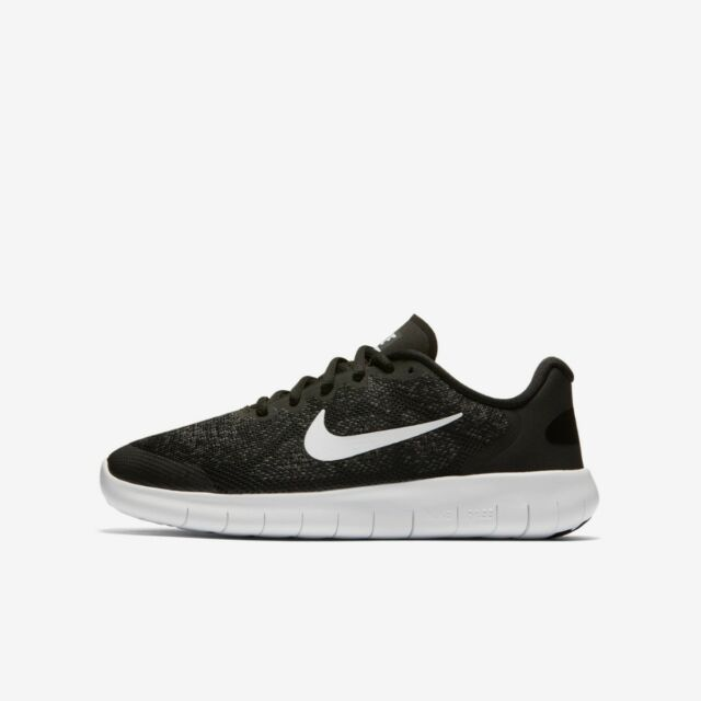 new style 06883 d043e Nike Free Run Boys 2017 (GS) Trainer Running Shoe Black White Grey
