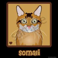 Somali Cat Cartoon T-shirt Tee - Men Women's Youth Tank Short Long Sleeve