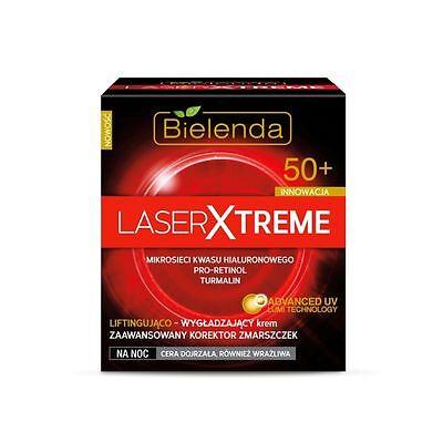 BIELENDA LASER EXTREME Antifalten Nachtcreme mit Hyaluronsäure +50 50 ml