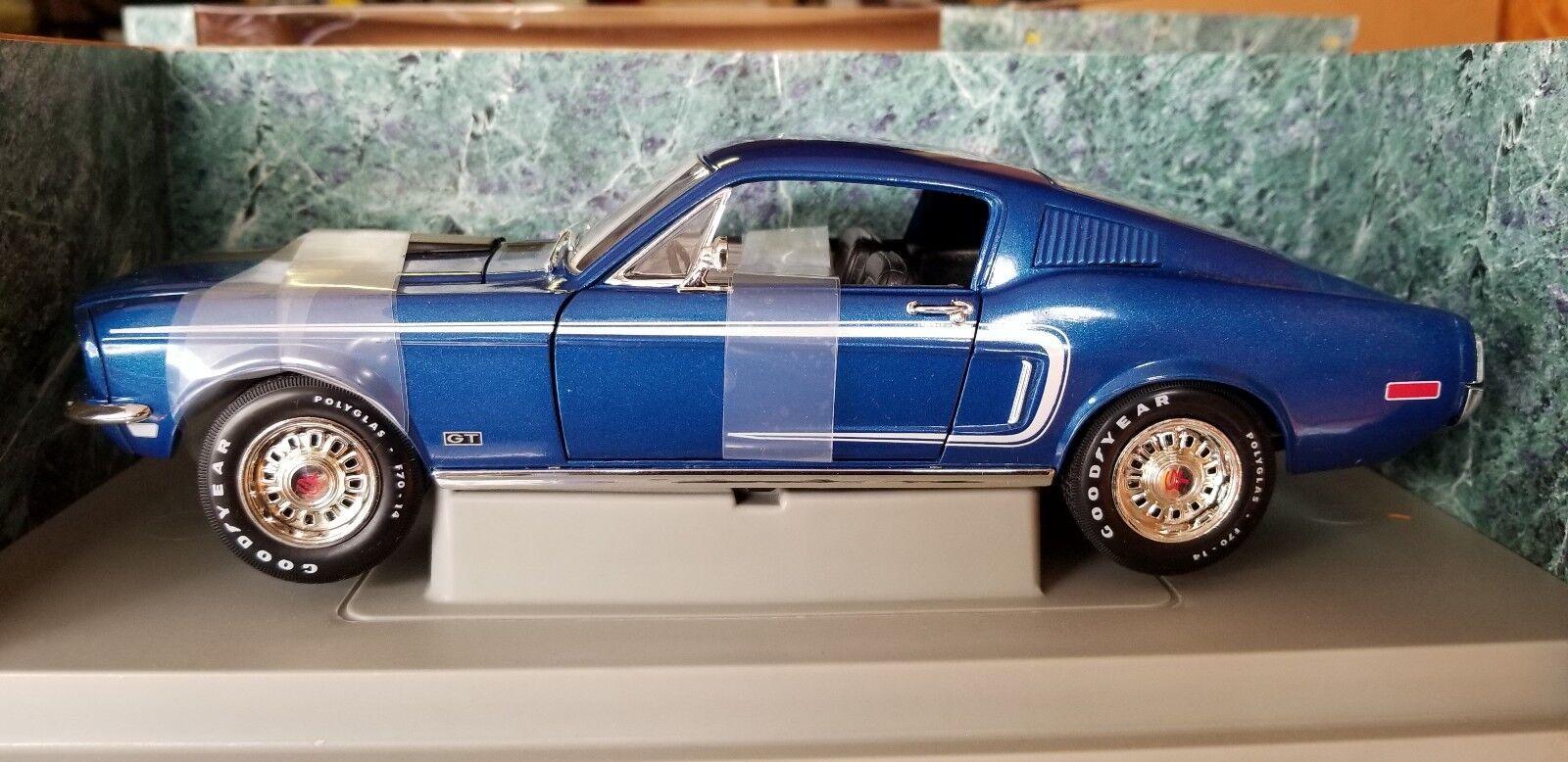 1   18 ertl amerikanische muskeln 1968 mustang cobra jet Blau nib
