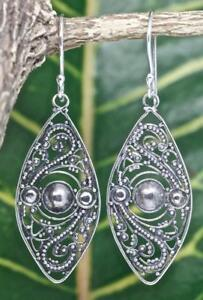 5e85fd851 Image is loading Handmade-925-Sterling-Silver-Bali-Style-Marquise-Dangle-