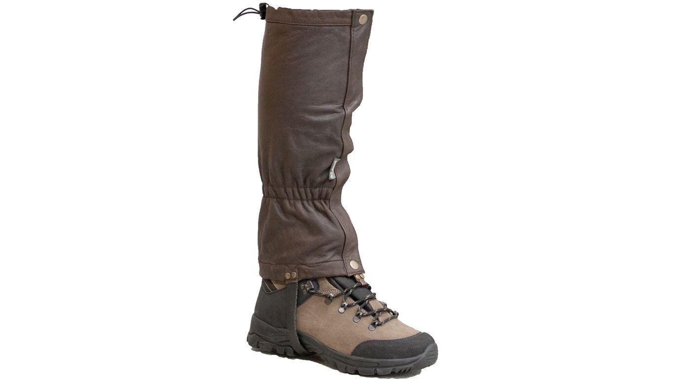 Bisley Leather Gaiters Brown (Hunting Hiking Walking)