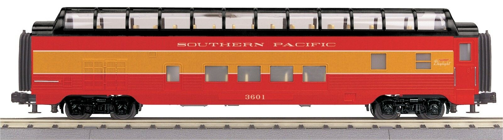 MTH 30-68069 Southern Pacific Vista Completa cúpula strlined 60 Ft. Auto RK o GA 3 FerroCocheril