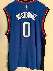 watch b8758 8391b Details about Adidas NBA Jersey Oklahoma City Thunder Russell Westbrook  Blue sz XL