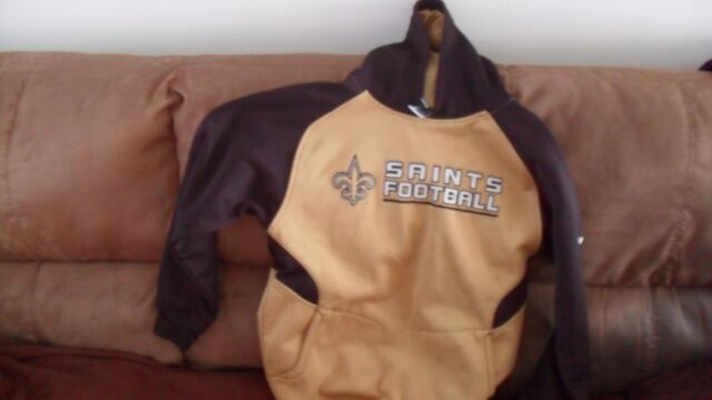 3372c39c8 New Orleans saints hoodie Jacket Girls Size Large 14 16 NWT By Nfl ...