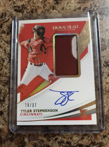 2021 IMMACULATE COLLECTION TYLER STEPHENSON RC-AUTO-PATCH #'d /37 REDS INVEST!
