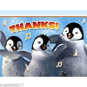 Image Is Loading HAPPY FEET TWO THANK YOU NOTES 8 Birthday