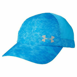 Under-Armour-Ua-Heatgear-Femmes-Fly-Rapide-Incurve-Bord-Bleu-Reglable-Course-Cap