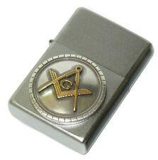 Freemason Masonic Mason Flint Spark Wick Fluid Lighter - NEW