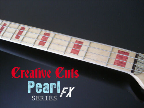 Blocks RED PEARL block Fretboard Marker Inlay Sticker Decal for Jazz or ANY BASS
