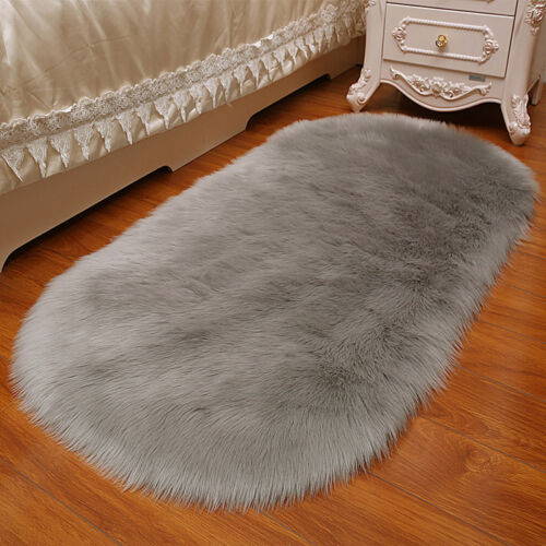 Fluffy Faux Sheepskin Rug Area Rugs Large Various Sizes Stunning Faux Fur Warmer