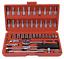 "thumbnail 3 - 46PCS Socket Ratchet Wrench Set Metric Sae Spanner Car Repair Tool Kit 1/4""Drive"