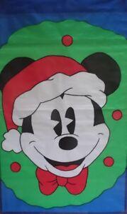 Christmas Mickey Wreath Standard House Flag by NCE #45552