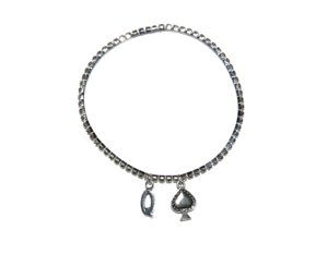 Sexy-Diamante-Rhinestone-Queen-of-Spade-Hotwife-Anklet-Ankle-Jewellery-BBC-1-Row