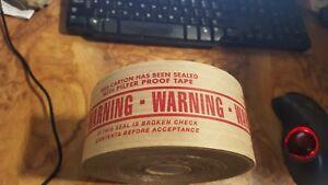 "U-line S-1074 260 reinforced Tape 3"" by 450 ft printed warning pilfer proof tape"