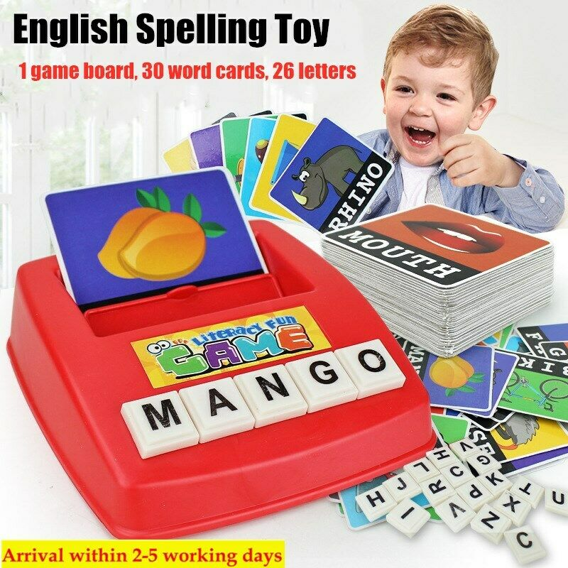 Educational English Spelling Alphabet Letter Game Early Learn Developmental Toys 3