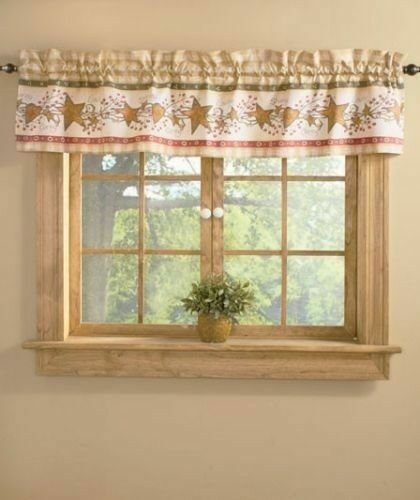 Country Style Hearts And Stars 72 Window Valance By Linda Spivey For Sale Online Ebay