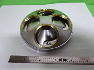 MICROSCOPE-PART-MITUTOYO-JAPAN-NOSEPIECE-LARGE-OBJECTIVE-OPTICS-AS-IS-B-F5-C-09