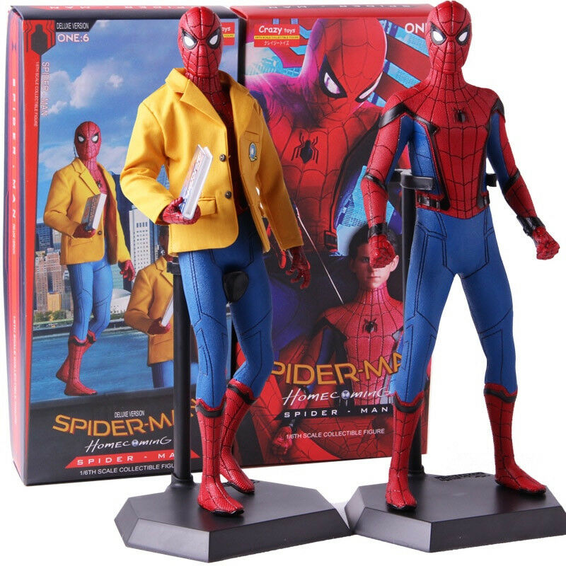 Crazy giocattoli Spider-uomo Homecoming Deluxe Version PVC azione cifra modellolo giocattolo