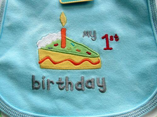 NEW JOY CARTER/'S Set of 3 FIRST BIRTHDAY PARTY DOT Dribble Waterproof BIBS
