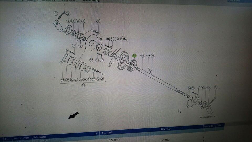 Knytter skive, CLAAS Quadrant