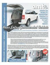 WHEELCHAIR VAN MINI VAN MOBILITY TAXI CONVERSIONS by AMT UP-FITTED TO YOUR VAN