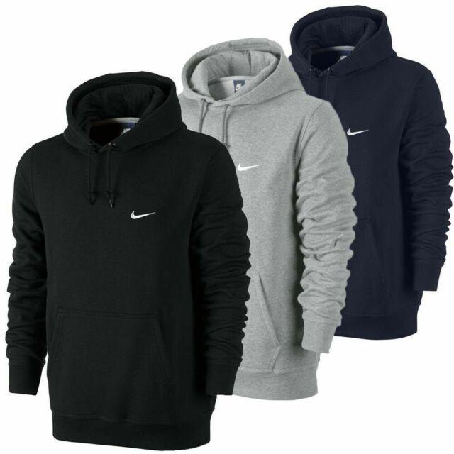 Nike Mens New Club Fleece Hoodie Hoody Hooded Sweatshirt Jumper Swoosh Pullover