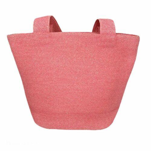 Eric Javits Salmon Straw Shoulder Bag